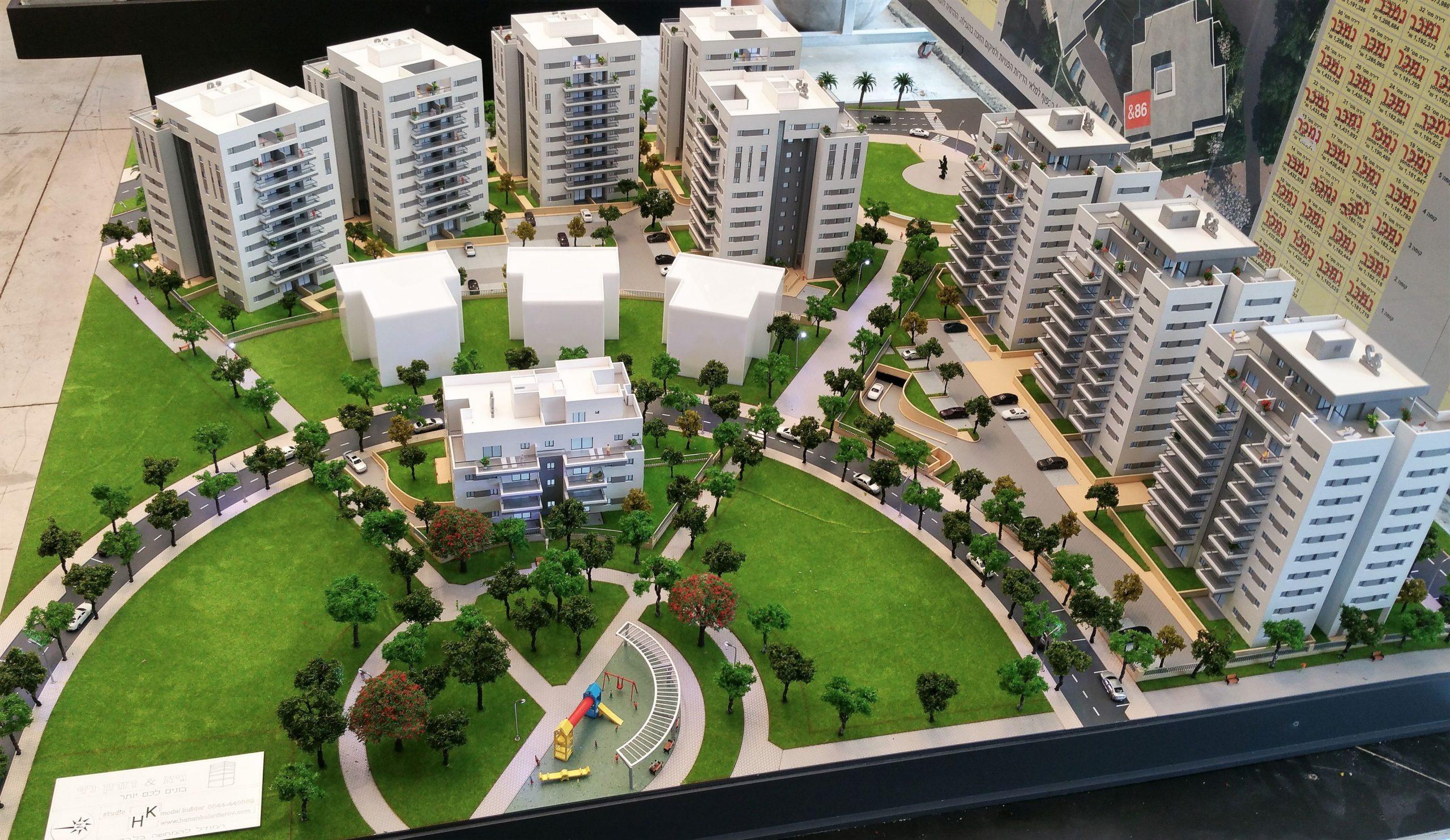 דגם אדריכלי של שכונה