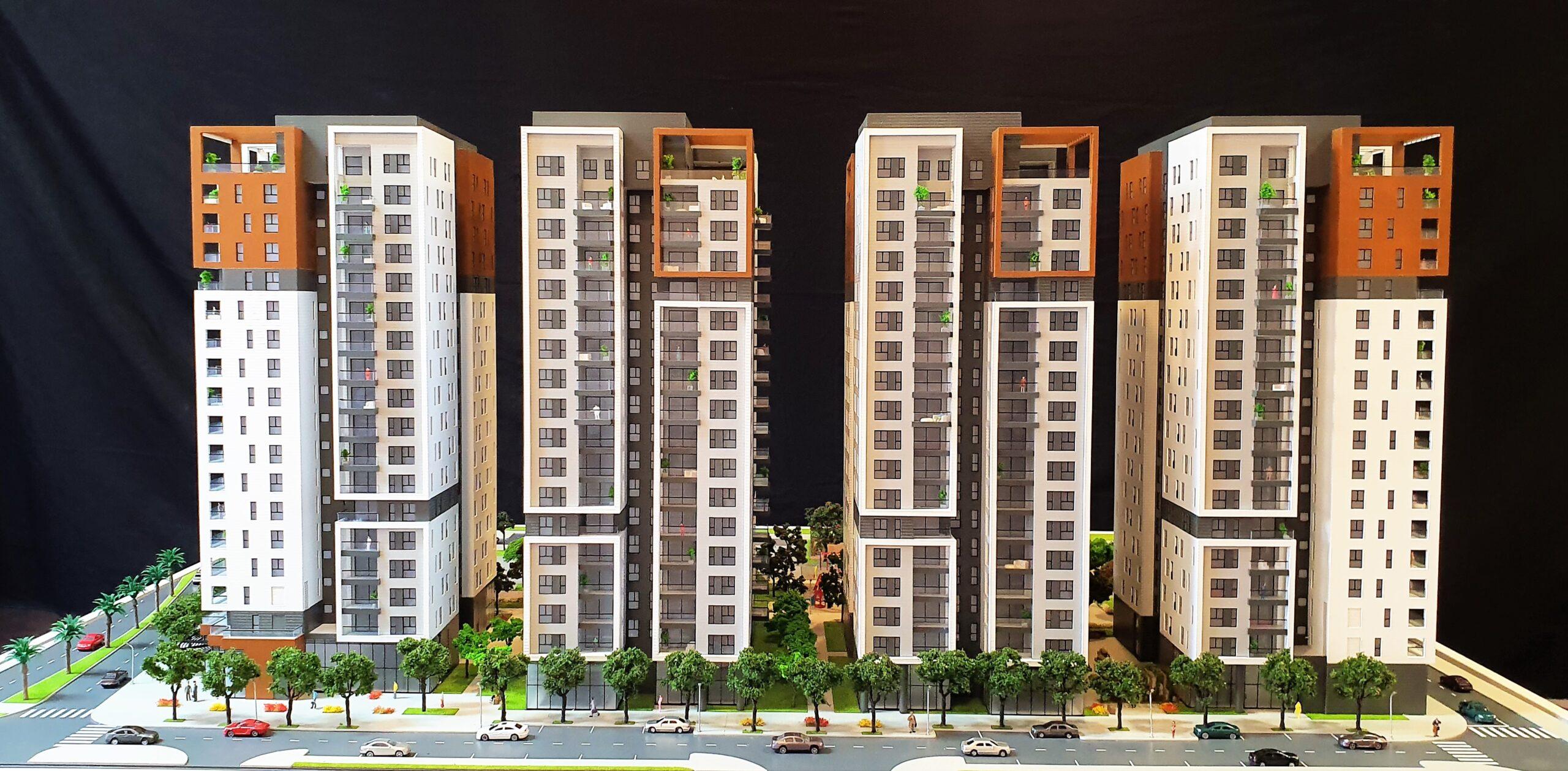 מודל של שכונת מגורים